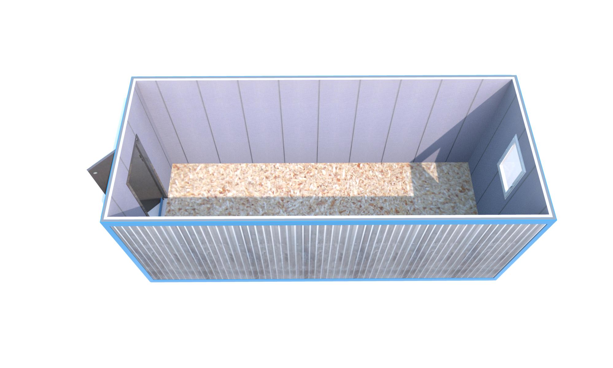 Блок-контейнер 6000x2400x2500 «БАЗОВАЯ КОМПЛЕКТАЦИЯ»