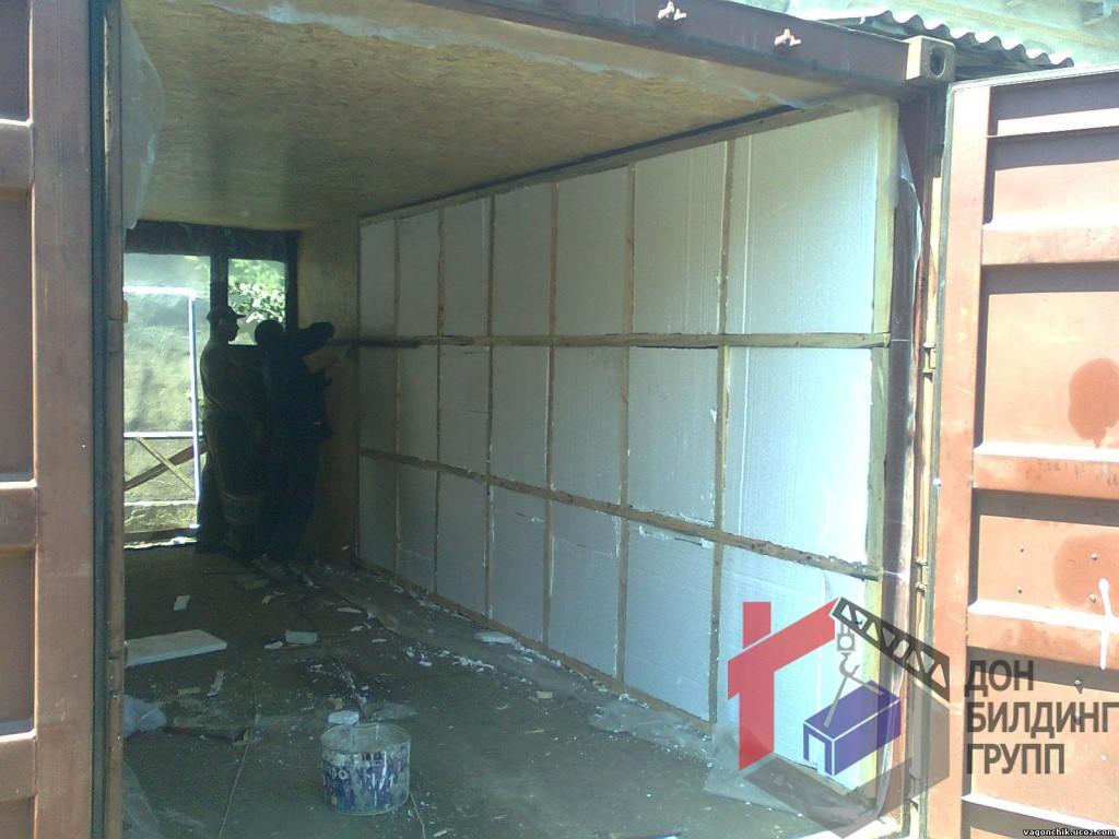 гараж из морсктго контейнера