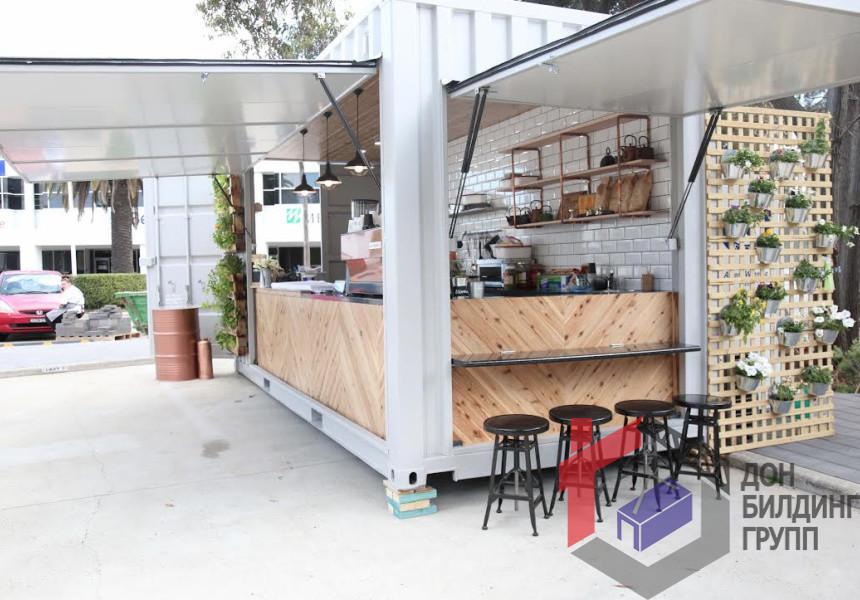 кафе и рестораны из морских контейнеров