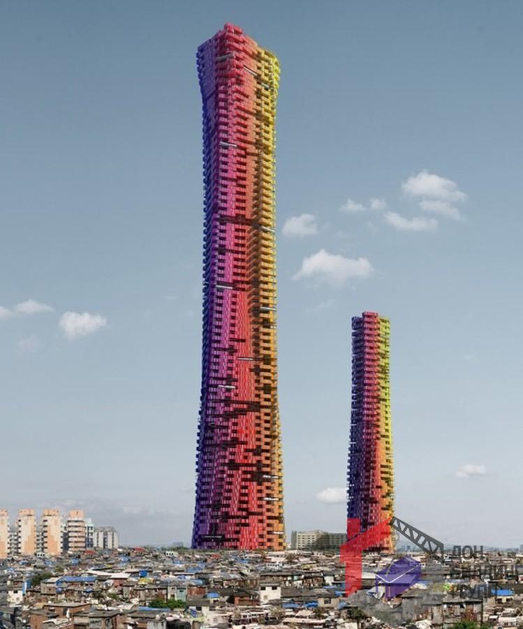 Концепция небоскребов из контейнеров в Мумбаи от CRG Architects