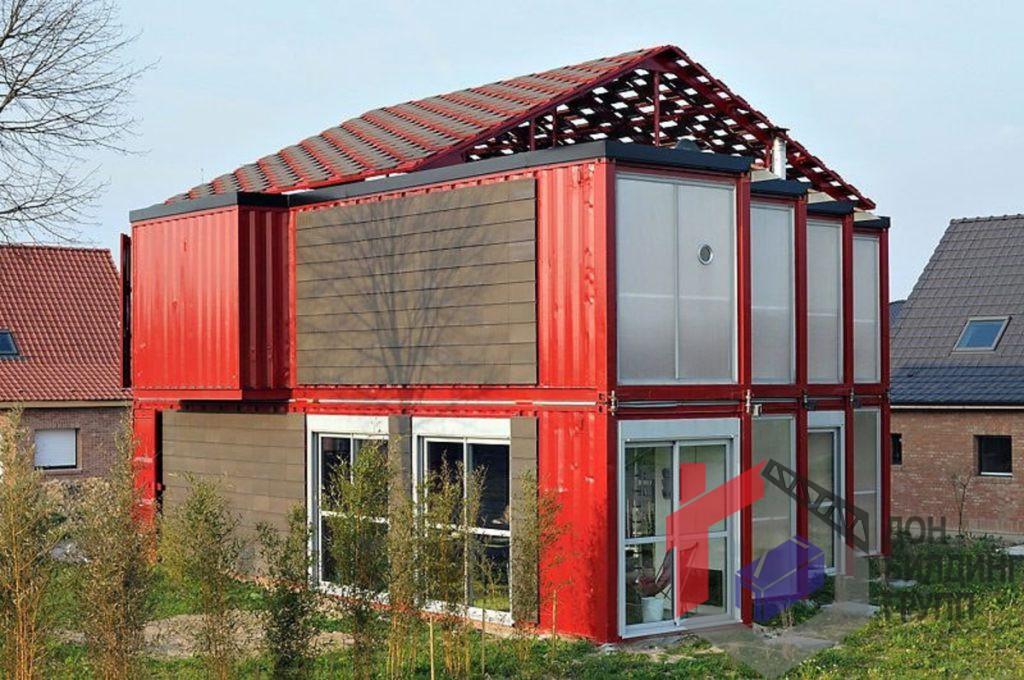 Стильный контейнерный дом во Франции, Лиль